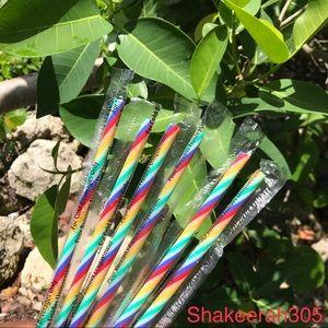 🌈 6 New Starbucks Rainbow Straw Pride